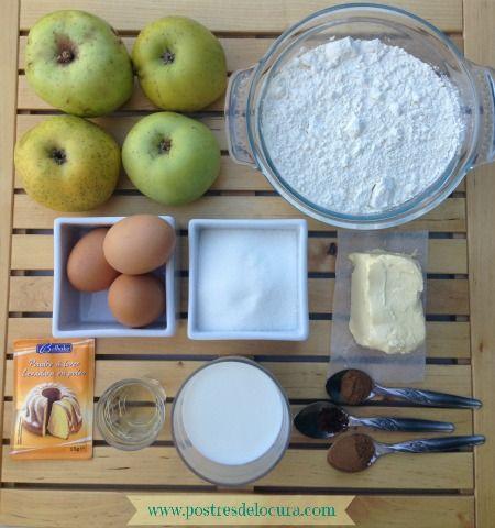 Ingredientes bizcocho facil de manzana
