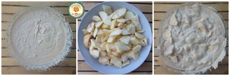 Preparacion bizcocho de manzana