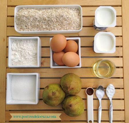 Ingredientes tarta de pera y avena