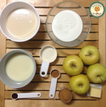 Ingredientes tarta tres leches y manzana