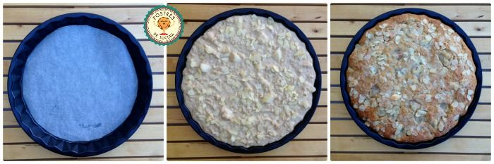 Preparacion tarta de peras y avena 3