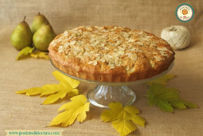 Tarta de pera y avena