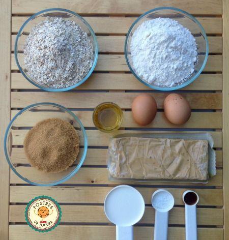Ingredientes galletas de avena y turron