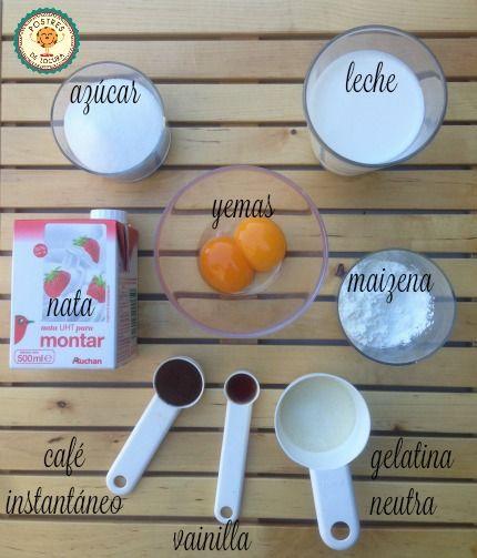 Ingredientes mousse de cafe