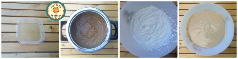 Preparacion mousse de cafe