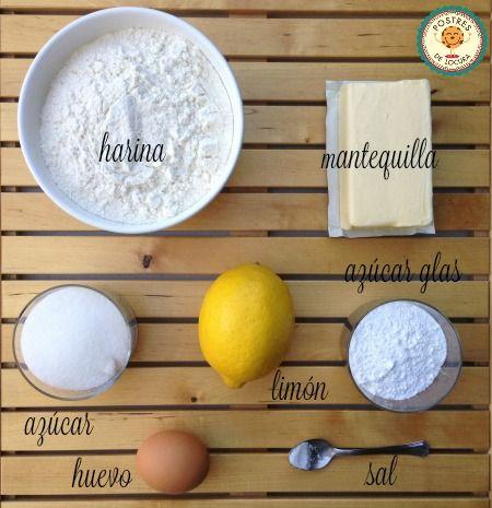 Ingredientes galletas faciles de mantequilla y limón