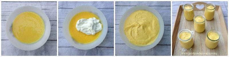 Preparacion vasitos de mousse de naranja