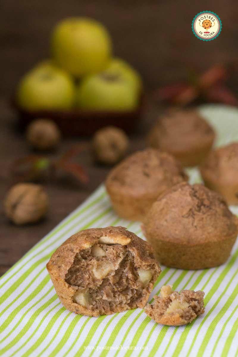 Muffin de manzana, pasas y nueces