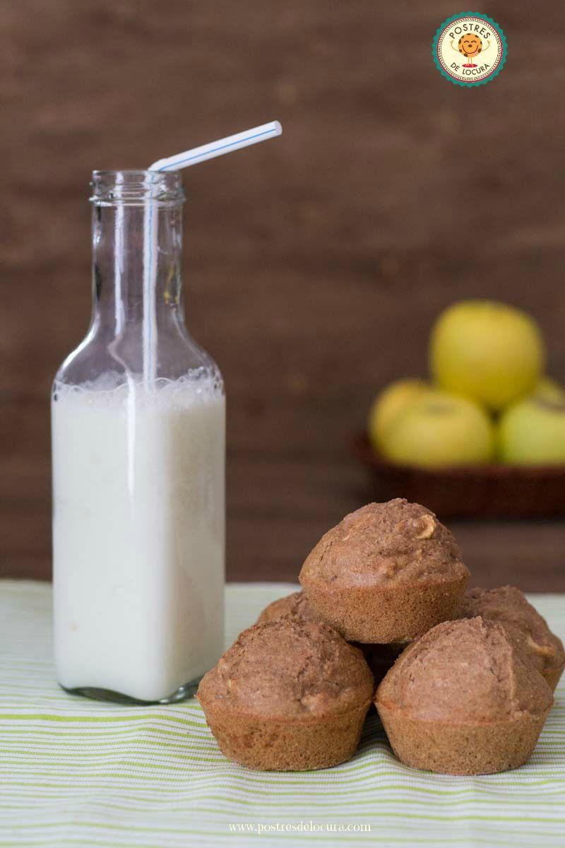 Muffins de manzana, pasas y nueces