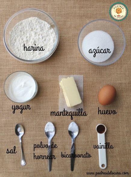 Ingredientes base pizza dulce de galleta