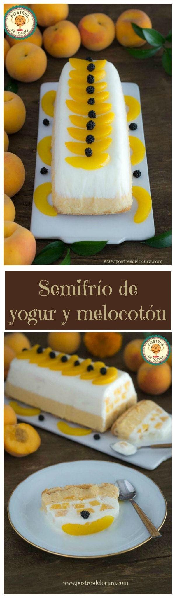 Collage Semifrio de yogur y melocoton