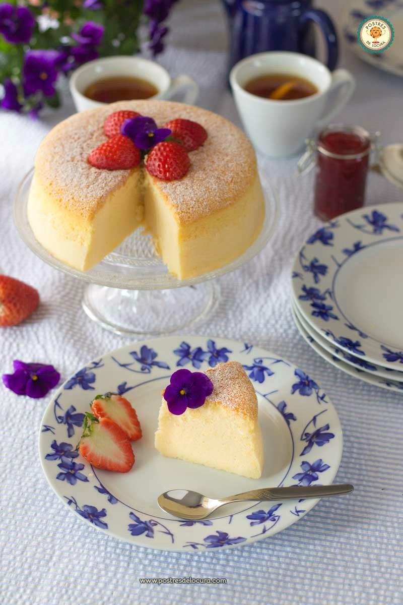 Tarta de queso japonesa deliciosa y ligera