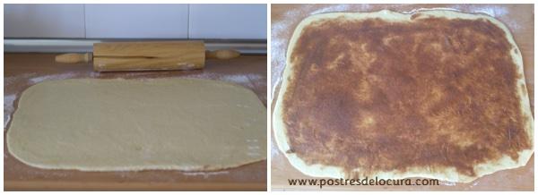 Preparacion pan de leche condensada y fruta 5