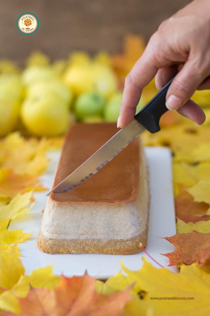 Bizcoflan de manzana