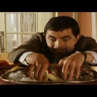Mr Bean – Eating competition