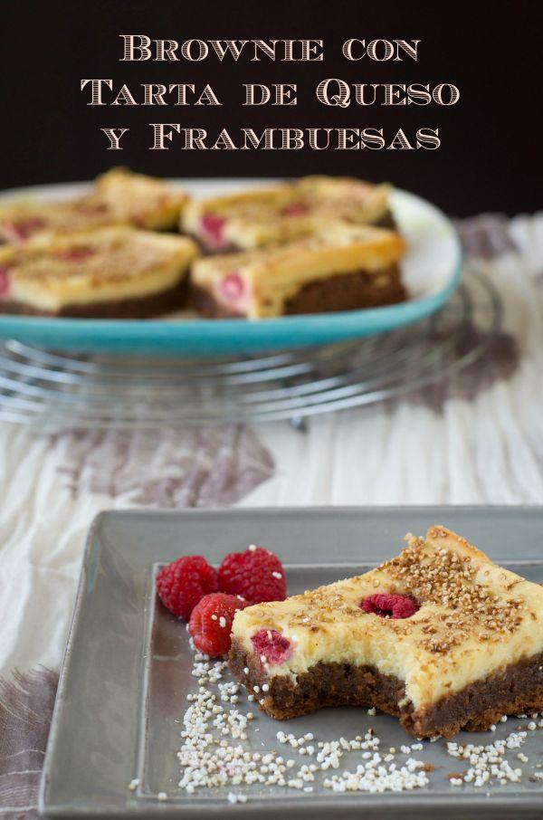 Brownie con Tarta de Queso y Frambuesas - Texto 02