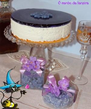 Tarta Mousse de Violeta - O caron de lareira