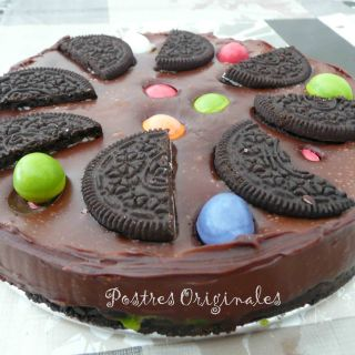 Tarta de Chocolate con Galletas Oreo