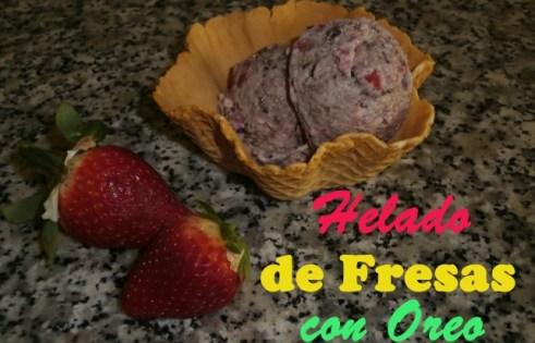 Postres con Galletas Oreo - Helado de Fresas con Oreo
