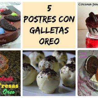 Postres con Galletas Oreo