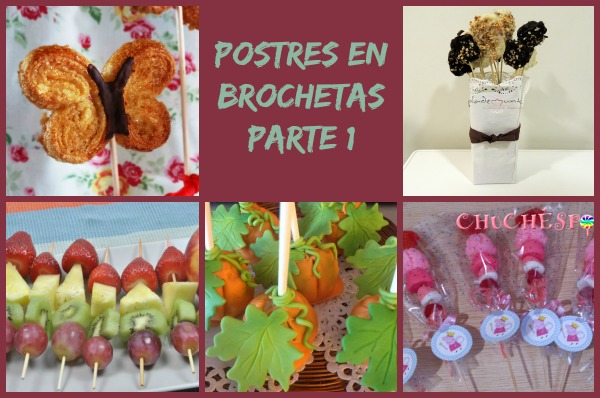 Postres en Brochetas Collage
