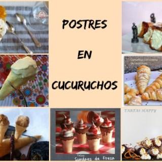 Postres en Cucuruchos