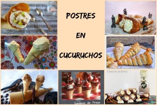 Postres en Cucuruchos Collage