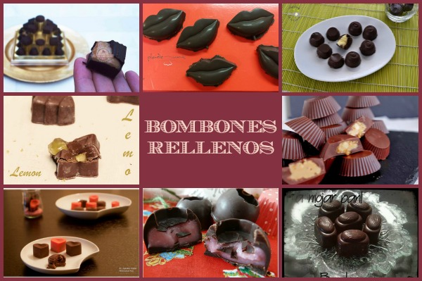 Bombones Rellenos Collage