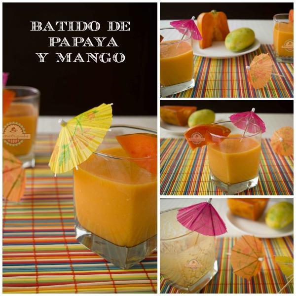Batido de Papaya y Mango Collage