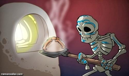 Pan de Muerto - Caricatura