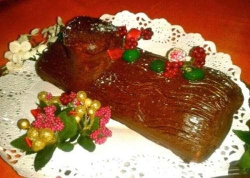 Troncos de Navidad - Tronco Relleno de Frutas Glaseadas