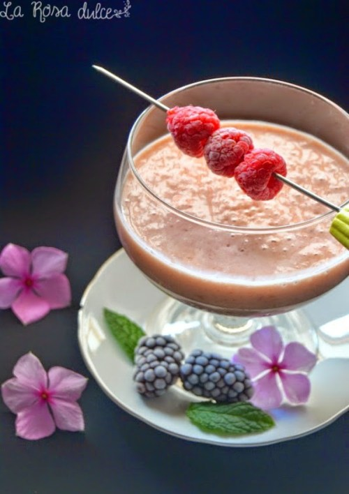 Batidos Depurativos - Smoothie de Frambuesas y Yogur