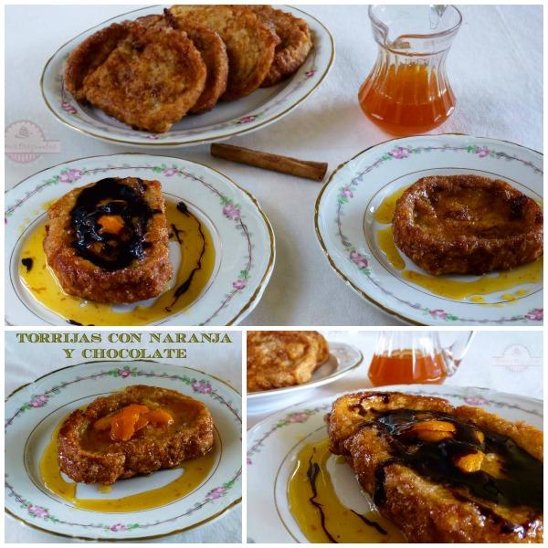 Torrijas con Naranja y Chocolate Collage