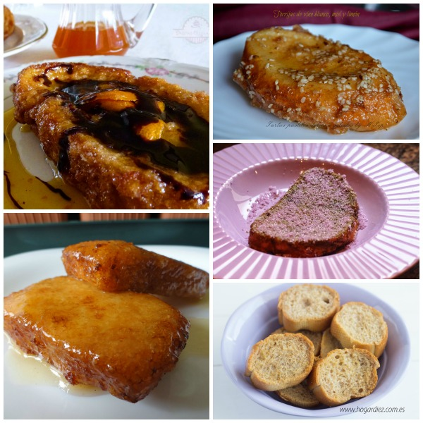 Tipos de Torrijas 2 Collage