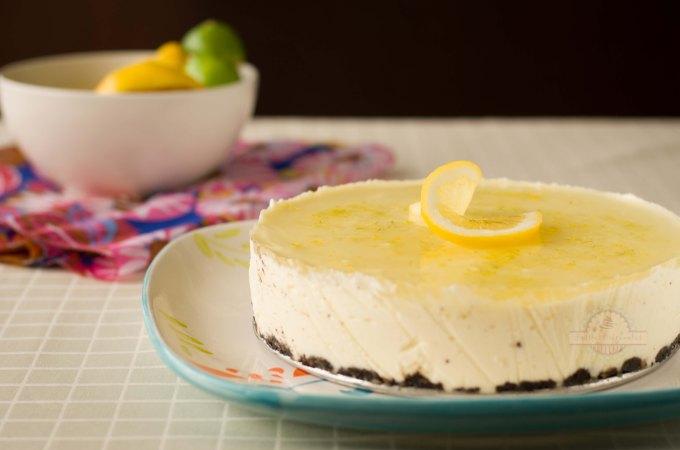 Tarta Mousse de Limón y Lima con Queso Mascarpone