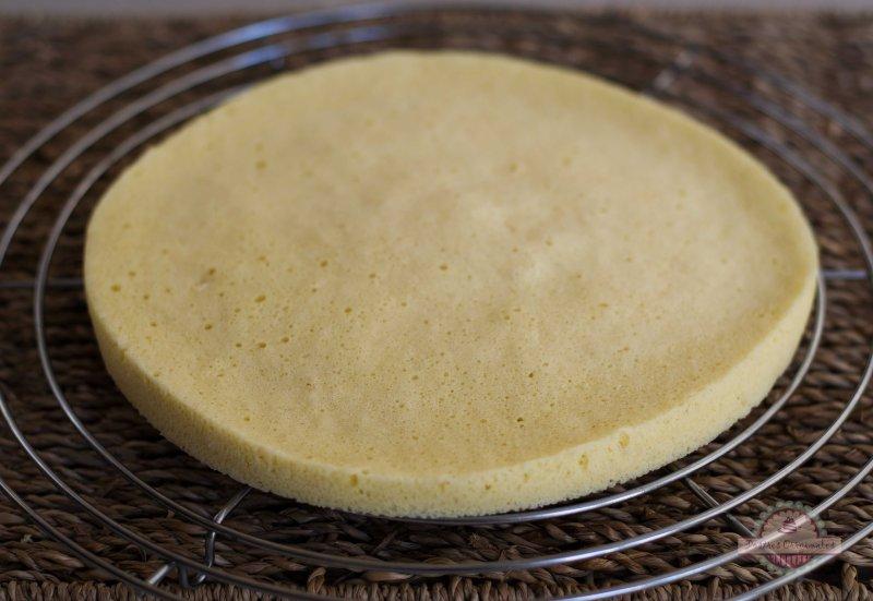 base de tarta de bizcocho en microondas