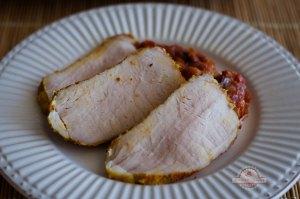 Lomo a la sal de cerdo al horno