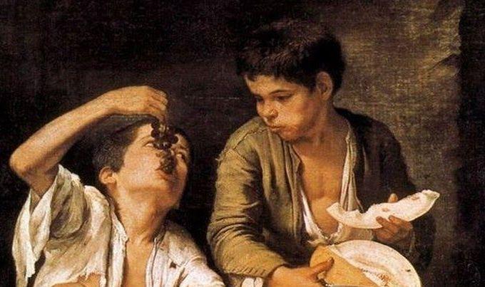 Niños comiendo uvas y melón – Murillo