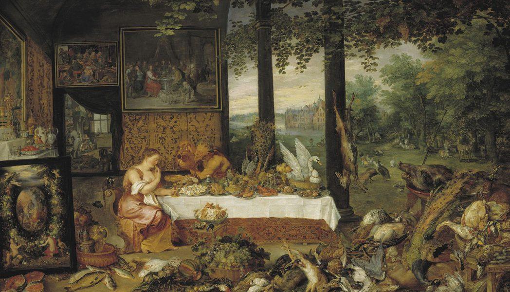El gusto (1618), Pablo Rubens y Brueghel el Viejo Museo del Prado, Madrid