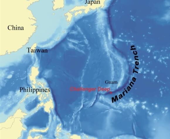 Fossa das Marianas, Oceano Pacífico