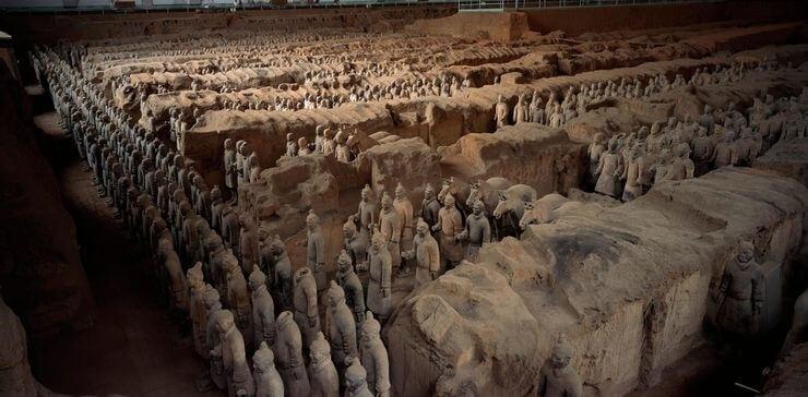 Mausoléu de Qin Shi Huang, China