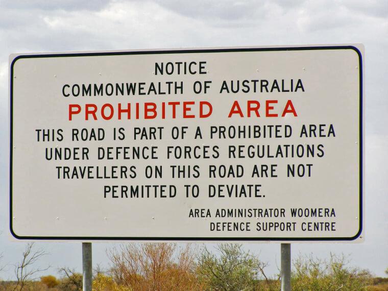 Área de Testes de Woomera, Austrália