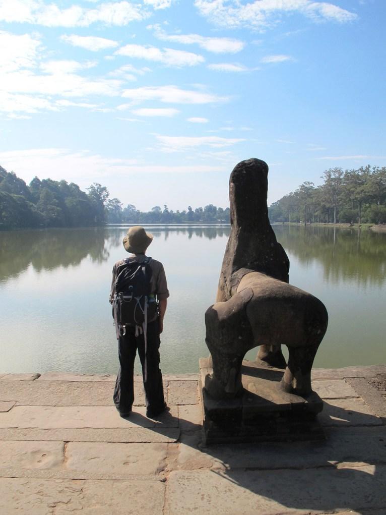 Enjoying the view at Angkor Wat, Cambodia