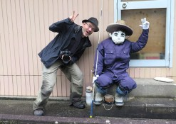 Hanging out with one of the locals from Scarecrow Village in the Iya Valley, Japan