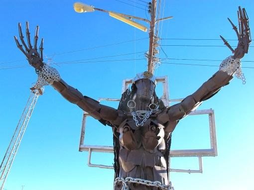Public statue, Uyuni, Bolivia