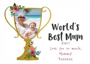 World's Best Mum Mother's Day card