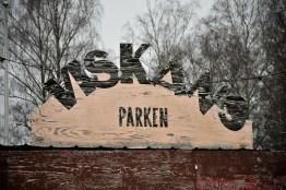...Viskans Parken, en festplats längs älven...