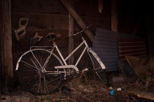 ...cykeln verkar ha klarat sig bra...