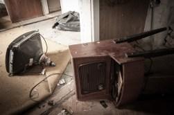 ...en äldre radio...