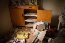 ...personlig saker som anteckningsblock och skolböcker finns kvar...